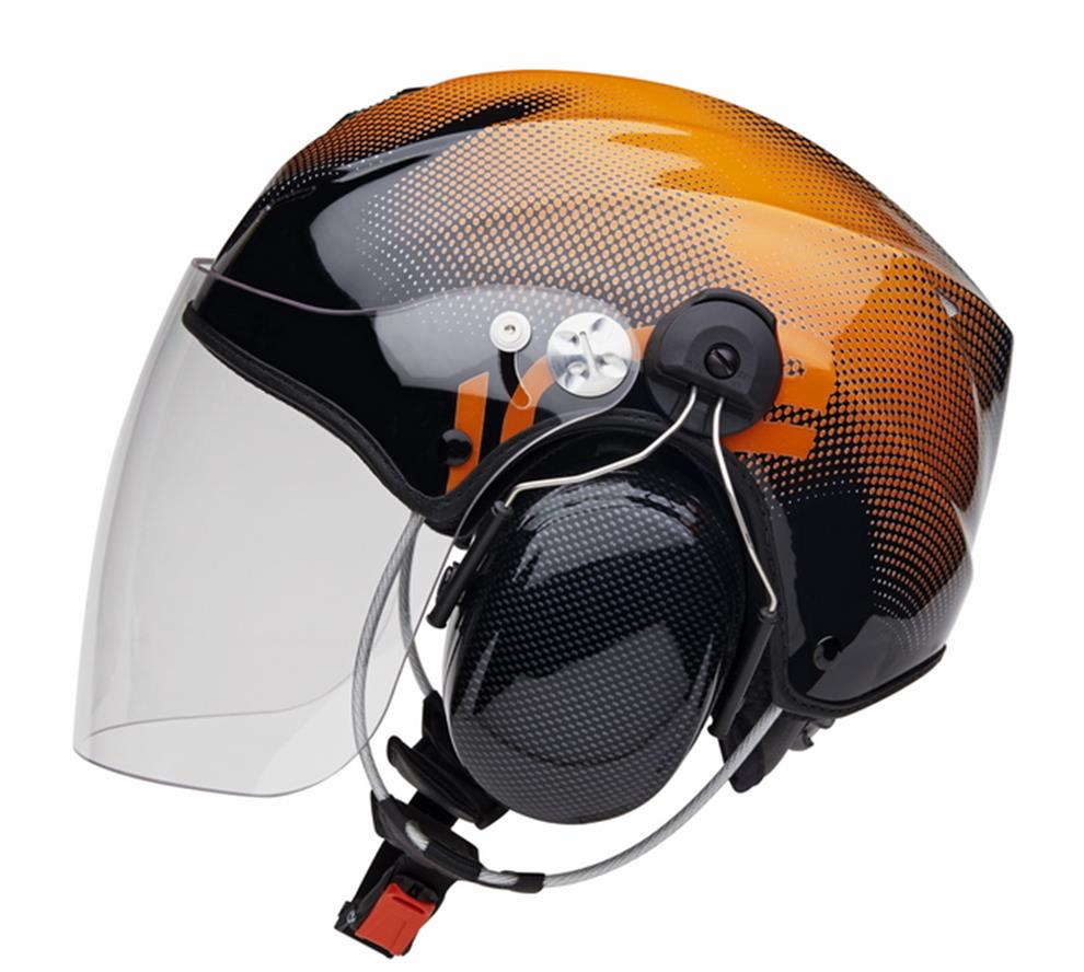 Icaro-Nerv-Orange-med-öronkåpor