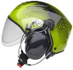 Icaro Solar-X Black / Green (kort transparent visir)
