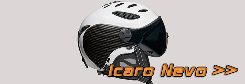 Icaro Nevo skidhjälm med visir